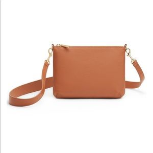 NEW WITH TAGS Cuyana Curved Crossbody Brown Bag